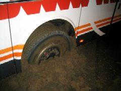 een wiel van een bus