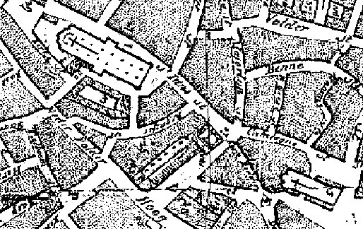 Een oude kaart van de omgeving, waarin de Regnessestraat is te zien