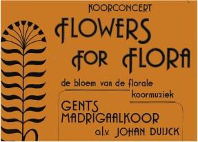 een (stukje van) de affiche ontworpen door Hendrik Colpaert voor een GMK-concert in 1985