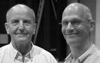 László Heltay (links) en Johan Duijck (rechts)