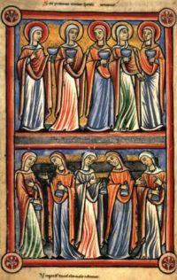 De wijze en de dwaze maagden, rond 1200