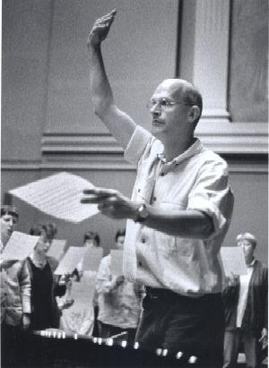 Johan Duijck tijdens een repetitie van het Gents Madrigaalkoor ©GMK