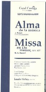 het foldertje voor het concert in Barcelona