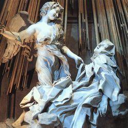 De extase van Sint-Teresia door Gianlorenzo Bernini (1652), in de Santa Maria della Vittoria in Rome